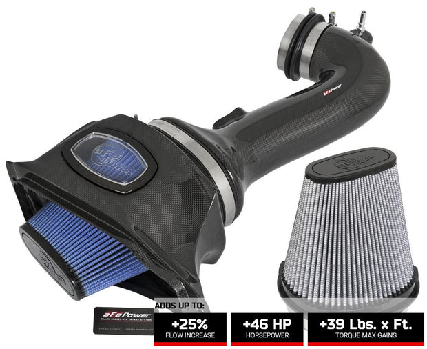 52-74202-C afe momentum carbon fiber cold air intake for the c7 corvette z06