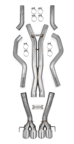 70501338-rhkr c6 corvette hooker straight pipes