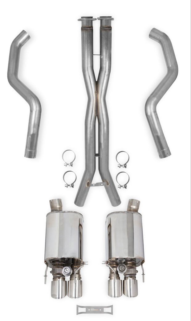70501365-rhkr c6 corvette hooker cat back exhaust
