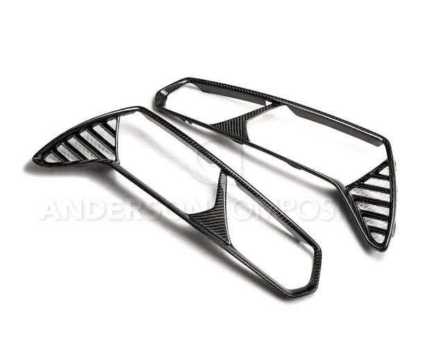 AC-TLB14CHC7 anderson composits c7 corvette carbon fiber tail light bezels
