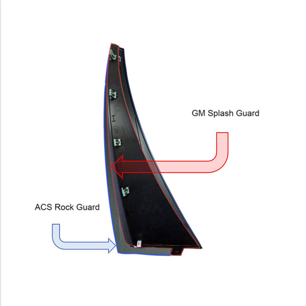 Acs splash rear guard XL 45-4-193-5