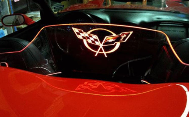 C5 Corvette Etched and Illuminated windrestrctor windscreen
