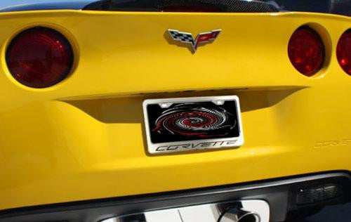 C6 Corvette Chrome and Brushed License Plate Frame