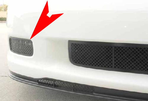 C6 Corvette Driving Light Covers