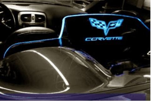 C6 Corvette Etched and Illuminated windrestrictor windscreen