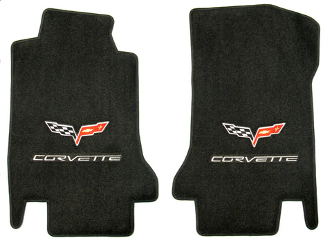 C6 Corvette Lloyd Mats Velourtex Double Logo