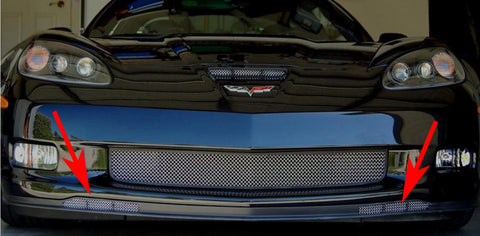 C6 Corvette Z06 Lower Apron Grilles