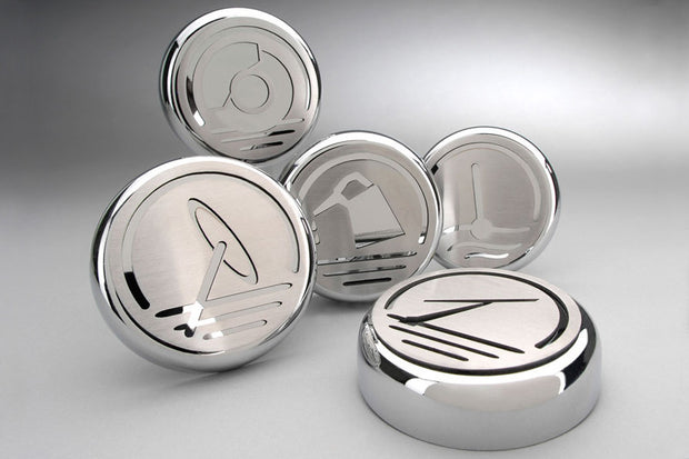 C6 Corvette Silver Executive Series Engine Cap Set
