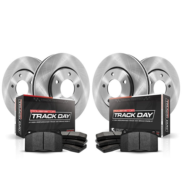 C7 Corvette Powerstop Track day  brake pads and rotors