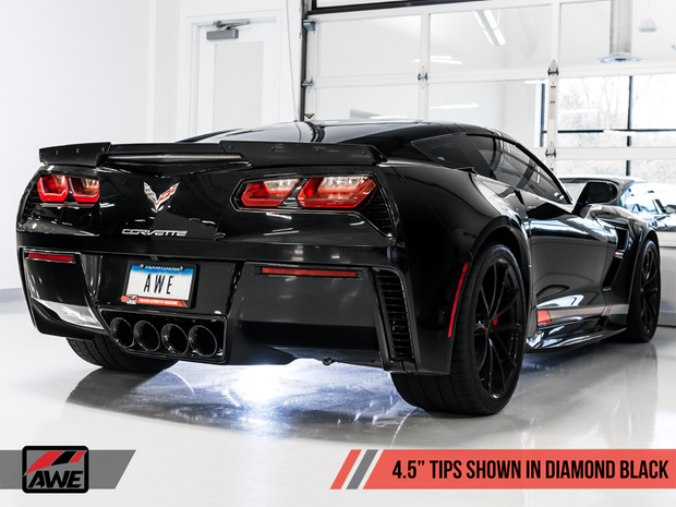 C7 Corvette AWE Valveback exhaust in Black Diamond  Tips