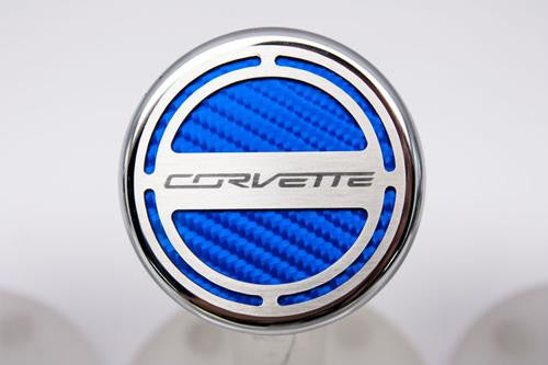 C7 Corvette Corvette Script GM Logo Engine Caps