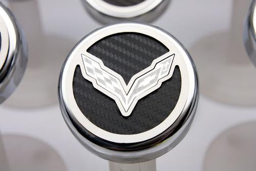 C7 Corvette GM Logo Engine Caps