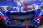 C7 Corvette Illuminated Hood Cross Brace with arrows