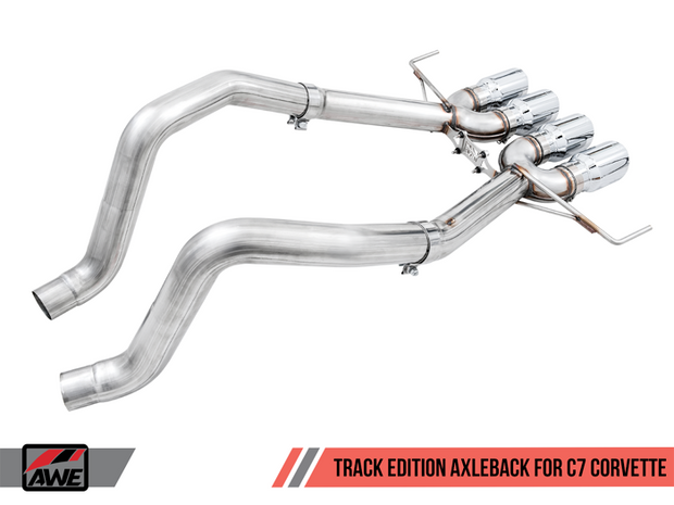C7 Corvette Manual AWE Track Axle Back Exhaust 3020-42073