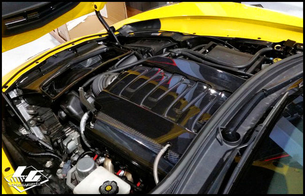 C7 Corvette Real Carbon Fiber Engine Covers