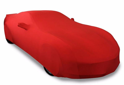 C7 Corvette Red Ultraguard Stretch Satin Car Cover