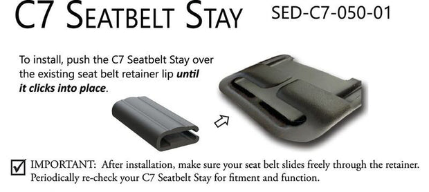 C7 Corvette Stingray Seat Belt Stay