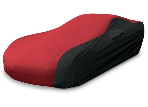 C7 Corvette Ultraguard Car Cover Black and Red