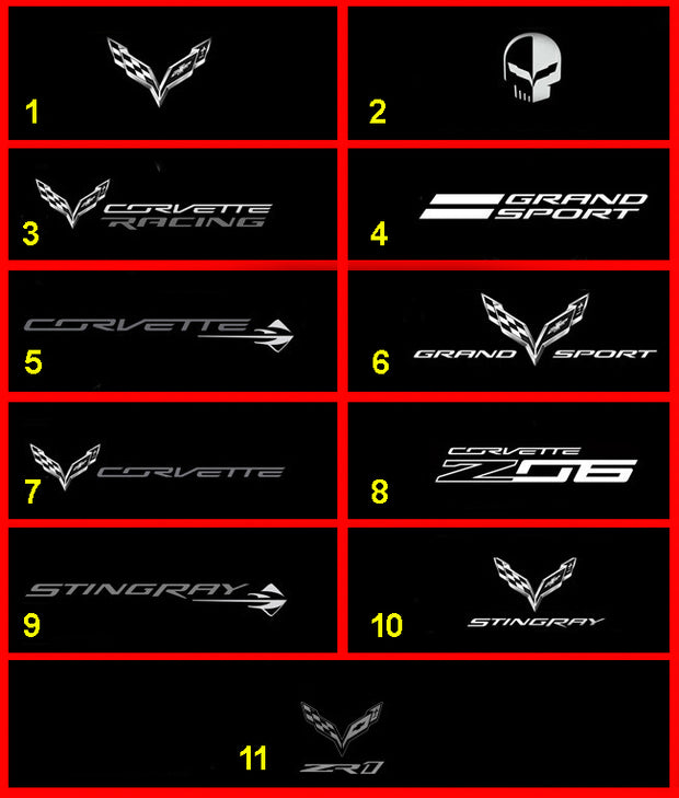 C7 Corvette Windscreen Logos - Windrestrictor