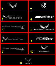 C7 Corvette Windscreen Logos Windrestrictor