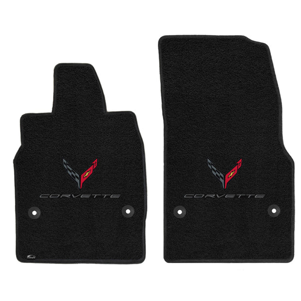 C8 Corvette Stingray Lloyd Mats Double Logo Floor Mats