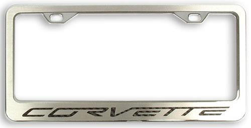 C6 Corvette Chrome License Plate Frame