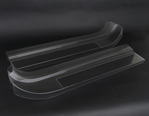 Clear door sill protectors for the C7 Corvette