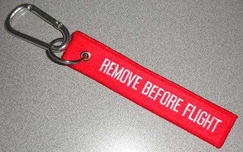 Remove before flight carabineer
