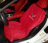 SA100COR7R -  Seat Armour Adrenalin red seat towels for the C7 corvette