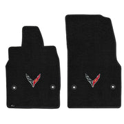 Single Logo Lloyd Mats C8 corvette floor mats