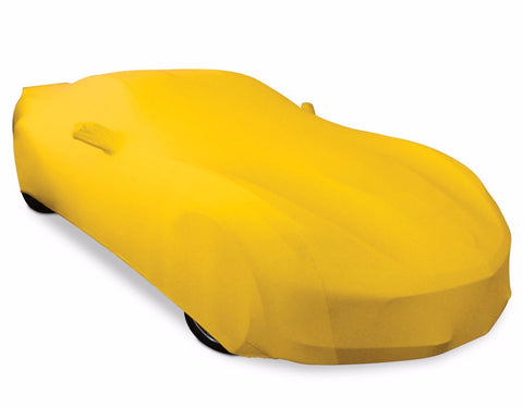 Yellow stretch satin ultraguard car cover c7 corvette