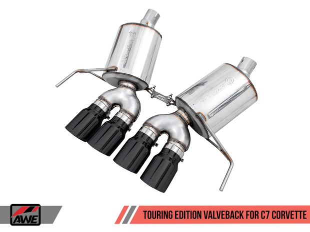 awe touring edition valveback c7 corvette stingray exhaust system