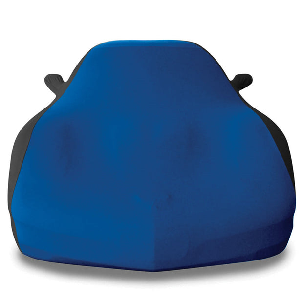 blue and black stretch satin car cover - c5 corvette