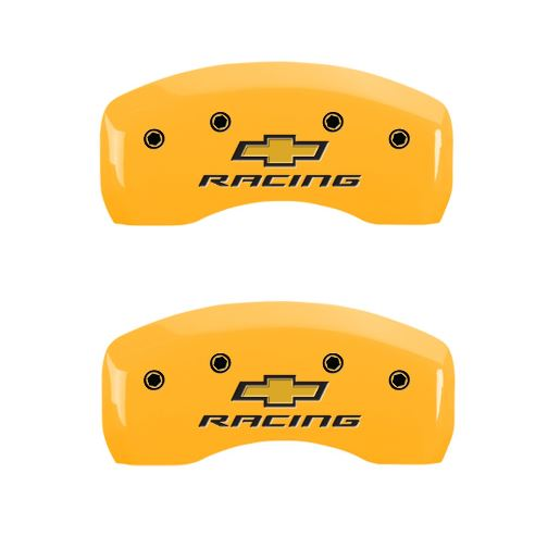 c5 corvette chevy racing caliper cover - yellow