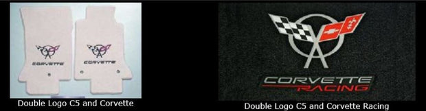 c5 corvette double logo lloyd mats