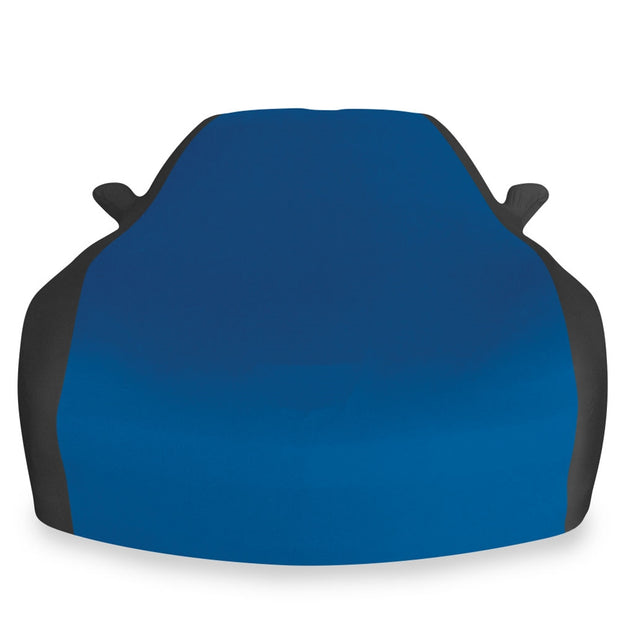 c6 corvette blue and black stretch satin car cover