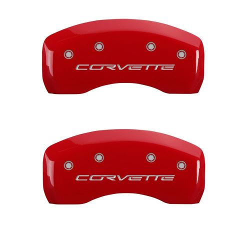 c6 corvette red caliper cover