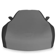c6 corvette stretch satin car cover black and grey