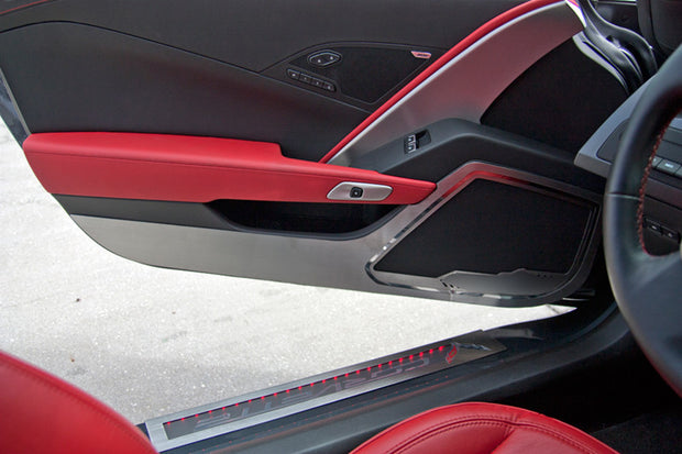 c7 Corvette door guards stainless steel