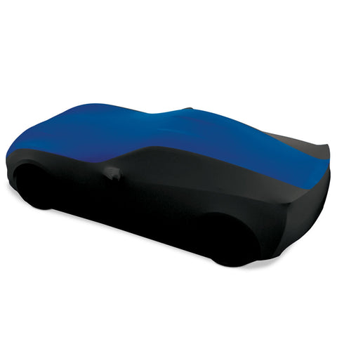 c7 corvette blue and black stretch satin car cover 27176421 - west coast corvette