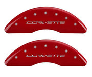 c7 corvette caliper covers - red