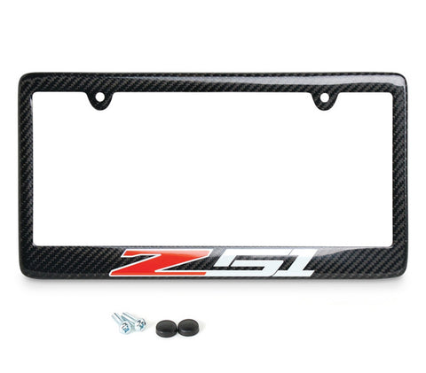 c7 corvette carbon fiber license plate frame