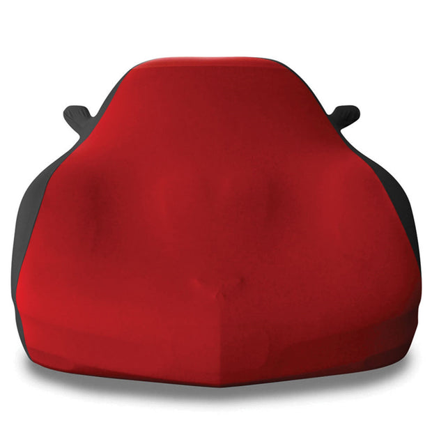 dark red and black stretch satin car cover for the c5 corvette