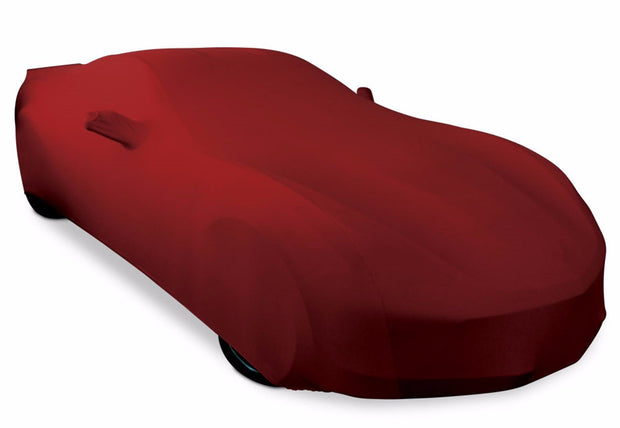 dark red ultraguard car cover c7 corvette stretch satin