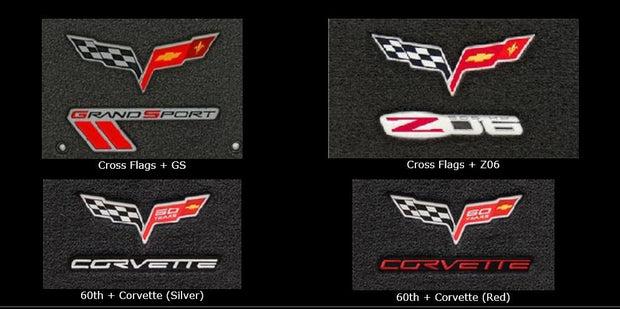 double logo lloyd mats for the c6 corvette floor mats