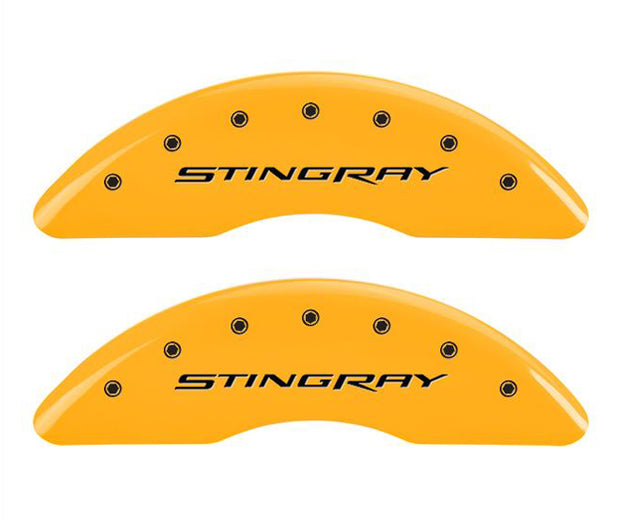 mgp c7 corvette caliper covers - stingray - yellow