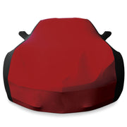 west coast corvette 27176423 dark red strech satin car cover - c7 corvette