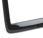 west coast corvette carbon fiber license plate frame