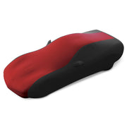 west coast corvette stretch satin car cover 17176423 dark red and black - c5 corvette