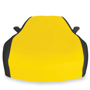 west coast corvette stretch satin car cover yellow and black